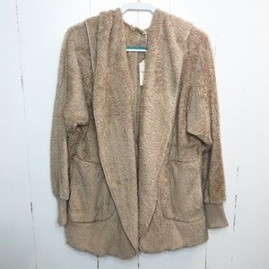 Jackets & Blazers - Faux Fur Teddy Hooded Cardigan w/ Pockets NWT